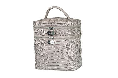 Bilde av Lulu`s Beauty bag light grey croco struktur