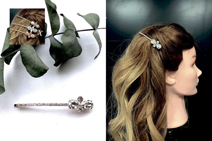 Bilde av ZG The Vintage Crystal Hair Clip Clear Crystal